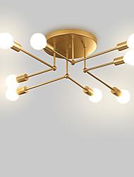 Недорогие -8-Light промышленные Люстры и лампы Рассеянное освещение Окрашенные отделки Металл Мини 110-120Вольт / 220-240Вольт Теплый белый