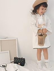 Χαμηλού Κόστους -Παιδιά Κοριτσίστικα Βασικό Μονόχρωμο Μακρυμάνικο Κανονικό Πολυεστέρας Κοστούμι & Σακάκι Λευκό