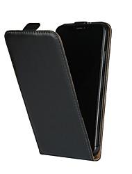 Недорогие -Кейс для Назначение Apple iPhone XR / iPhone XS Max со стендом / Флип Чехол Однотонный Твердый Настоящая кожа для iPhone XS / iPhone XR / iPhone XS Max