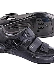 Недорогие -Обувь для шоссейного велосипеда Нейлон, стекловолокно, воздушное отверстие,противоскользящие протекторы Дышащий Амортизация Вентиляция Велосипедный спорт / Велоспорт Для велоспорта Черный Муж.