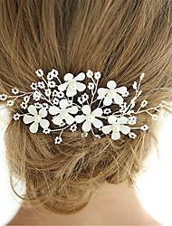 Недорогие -Искусственный жемчуг Зажим для волос с Цветы 1 ед. Свадьба / Особые случаи Заставка