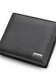 Недорогие -мужские сумки наппа кожаный кошелек сплошной цвет черный / коричневый