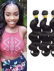 cheap -3 Bundles Brazilian Hair Body Wave 8A Human Hair Unprocessed Human Hair Headpiece Natural Color Hair Weaves / Hair Bulk Hair Care 8-28 inch Natural Color Human Hair Weaves Newborn Soft Classic Human