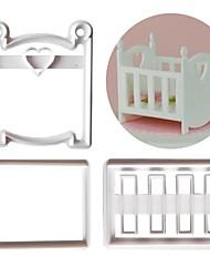 Недорогие -3шт пластик Творческая кухня Гаджет Торты Для приготовления пищи Посуда Формы для пирожных Инструменты для выпечки