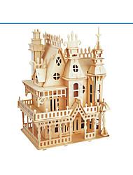 Недорогие -3D пазлы Пазлы Деревянные игрушки Наборы для моделирования Замок Знаменитое здание Дерево Натуральное дерево Взрослые Универсальные
