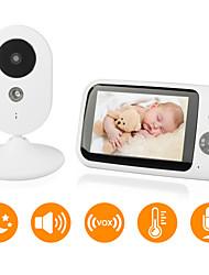 baratos -monitor de bebê didseth® 0,3 mp cmos / micro / pan e tilt 131 ° ° c alcance de visão noturna 5 m 0 ghz