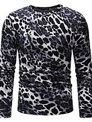 Недорогие -мужская футболка - клетчатая круглая шея