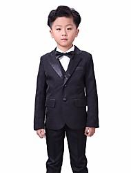 Недорогие -Белый / Черный Хлопок / Полиэфир / Вискоза Детский праздничный костюм - 1 комплект Включает в себя Жилетка