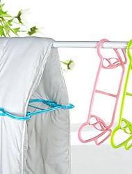 baratos -2 pcs cobertor colcha multifuncional rack de secagem de roupas cabides de plástico nova moda casa lavar roupas prateleiras a seco
