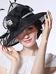Недорогие -Elizabeth Чудесная миссис Мейзел Жен. Взрослые Дамы Ретро Перо Чистая Шляпа Кентукки шляпа дерби Шляпа чародея шляпа Черный Цветы Головные уборы Лолита Аксессуары