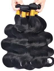 Недорогие -6 Связок Бразильские волосы Естественные кудри 8A Натуральные волосы Необработанные натуральные волосы Головные уборы Человека ткет Волосы Уход за волосами 8-28 дюймовый Естественный цвет