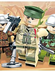 Недорогие -Конструкторы Конструкторы Игрушки Обучающая игрушка 50-100 pcs Армия Танк совместимый Legoing моделирование Военная техника Танк Все Мальчики Девочки Игрушки Подарок