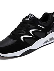 זול -בגדי ריקוד גברים נעלי נוחות PU סתיו יום יומי נעלי אתלטיקה הליכה נושם שחור לבן / שחור אדום / שחור / כחול