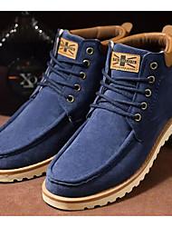 hesapli -Erkek Ayakkabı Süet Sonbahar Kış Çizmeler Bootiler / Bilek Botları Günlük / Dış mekan için Siyah / Mavi / Haki