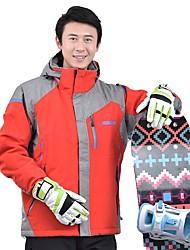 Недорогие -MARSNOW® Муж. Лыжная куртка Сохраняет тепло С защитой от ветра Дожденепроницаемый Зимние виды спорта Хлопок Верхняя часть Одежда для катания на лыжах / Зима