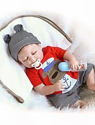 Недорогие -NPKCOLLECTION NPK DOLL Куклы реборн Мальчики 18 дюймовый Полный силикон для тела Винил - Новорожденный Подарок Очаровательный Детские Мальчики Игрушки Подарок