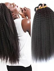 levne -3 svazky Brazilské vlasy Rovné, bláznivé Nezpracované lidské vlasy Lidské vlasy Vazby Bundle Hair Jeden balíček Solution 8-28 inch Přírodní barva Lidské vlasy Vazby rozšířením Nejlepší kvalita Žhav