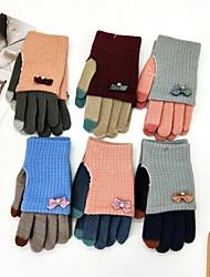 Недорогие -перчатки для ног у женщин - цветной блок