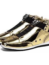 hesapli -Erkek Ayakkabı PU Bahar Günlük Spor Ayakkabısı Günlük için Altın / Siyah / Gümüş