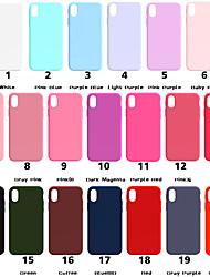 Недорогие -Кейс для Назначение Apple iPhone XR / iPhone XS Max Матовое Кейс на заднюю панель Однотонный Мягкий ТПУ для iPhone XS / iPhone XR / iPhone XS Max