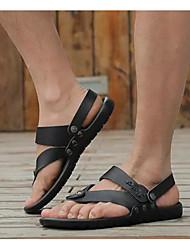 hesapli -Erkek Ayakkabı Deri Yaz Sandaletler Günlük için Beyaz / Siyah / Mavi