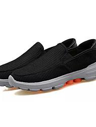 hesapli -Erkek Ayakkabı Örümcek Ağı Bahar Günlük Mokasen & Bağcıksız Ayakkabılar Günlük için Siyah / Haki
