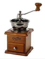 billige -træ kaffebønne krydder vintage stil håndkværn tilfældig farve