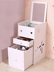 Недорогие -Место хранения организация Косметологический макияж Пластиковая пена из ПВХ Прямоугольная форма Открытая крышка / Тройной слой