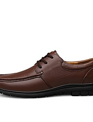 baratos -Homens Sapatos Confortáveis Pele Napa Outono & inverno Clássico / Vintage Tênis Absorção de choque Preto / Castanho Escuro / Festas & Noite