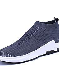 Недорогие -Муж. Комфортная обувь Трикотаж Весна Спортивные Спортивная обувь Беговая обувь Дышащий Черный / Темно-серый / Красный