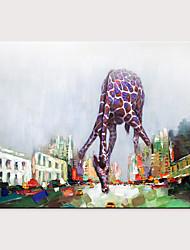 abordables -Peinture à l'huile Hang-peint Peint à la main - Abstrait Pop Art Moderne Sans cadre intérieur