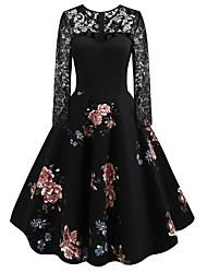 Недорогие -Жен. Классический Оболочка Платье Завышенная Макси