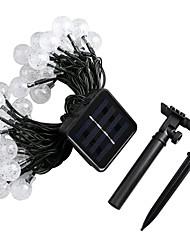 Недорогие -JIAWEN 4.6м Гирлянды 30 светодиоды ДИП светодиоды Тёплый белый / RGB / Белый Водонепроницаемый Солнечная энергия 1 комплект / IP65