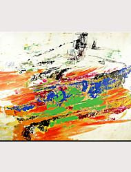 levne -Hang-malované olejomalba Ručně malované - Abstraktní Moderní Bez vnitřní rám