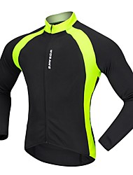 Недорогие -WOSAWE Муж. Жен. Велокофты - Черный Зеленый Велоспорт Джерси Быстровысыхающий Впитывает пот и влагу Виды спорта 100% полиэстер Горные велосипеды Шоссейные велосипеды Одежда