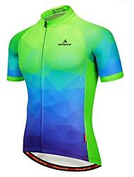 abordables -Miloto Homme Manches Courtes Maillot de Cyclisme - Vert / jaune. Cyclisme Maillot 100 % Polyester / Elastique