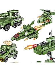 Недорогие -Конструкторы 50-100 pcs Армия Танк Военные корабли моделирование Военная техника Танк Вертолет Все Игрушки Подарок Legoingly