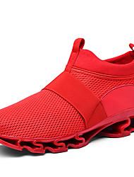 Недорогие -Муж. Комфортная обувь Сетка / Эластичная ткань Весна & осень Спортивные / На каждый день Спортивная обувь Беговая обувь Нескользкий Белый / Черный / Красный