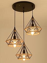 Недорогие -3-Light шишка / промышленные Люстры и лампы Рассеянное освещение Окрашенные отделки Металл Веревка, Творчество 110-120Вольт / 220-240Вольт