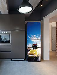 Недорогие -Наклейки на холодильник - 3D наклейки Пейзаж / Транспорт Кухня / Столовая