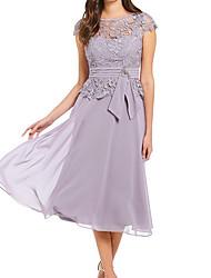 baratos -Mulheres Tamanhos Grandes Básico Reto Vestido - Renda, Sólido Cintura Alta Altura dos Joelhos / Sexy
