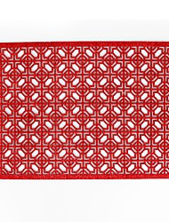 Недорогие -Современный 75 гр / м2 полиэфирная эластичная ткань Квадратный Салфетки-подстилки Жаропрочная Настольные украшения