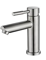 abordables -Robinet lavabo - Design nouveau Nickel brossé Sur Pied Mitigeur un trouBath Taps