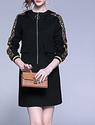 Недорогие -платье для женщин, выходящее выше колена, черное s m l xl