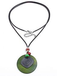 Недорогие -Жен. корейский / Мода Свитер ожерелье Однотонный