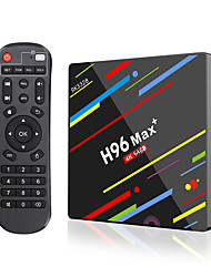 Недорогие -PULIERDE H96MAX+ PLUS TV Box Android 8.1 TV Box RK3328 4GB RAM 64Гб ROM Quad Core Новый дизайн