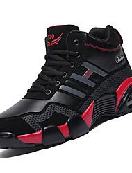 hesapli -Erkek Ayakkabı PU Kış Sportif Atletik Ayakkabılar Basketbol Atletik için Siyah / Beyaz / Siyah / Kırmızı / Siyah / Mavi / Zıt Renkli