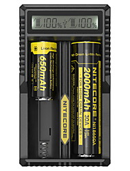 Недорогие -Nitecore UM20 Зарядное устройство для Литий-ионная Smart, USB, ЖК экран, Обнаружение сети, Защищенная сеть 18650,18490,18350,17670,17500,16340(RCR123), 14500,10440