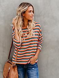 billige -Dame - Stribet Gade T-shirt