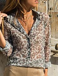billige -dametrøje - geometrisk skjorte krave